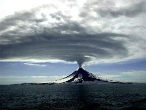 Volcanic eruption in Alaska